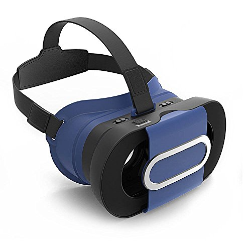 """LIKEE Foldable Headset VR Glasses Virtual Reality 3D Games Glasses VR Box with Capacitive Touch Botton for iPhone 7/7 plus/6/6 plus/5 Samsung Galaxy s5/s6/note4/note5 Smartphone 4.5""""-6.0""""(Blue)"""