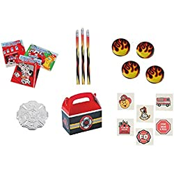 Fireman/Hero/Fire Awareness Party Favor Bundle Set for 12