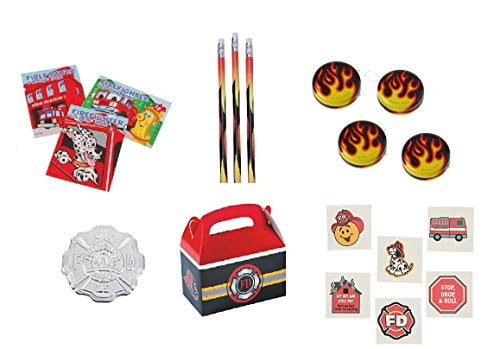 Fireman/Hero/Fire Awareness Party Favor Bundle Set for -