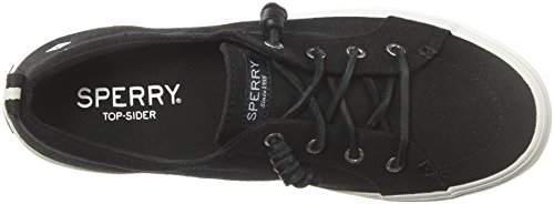 Linen Negro Vibe Zapatillas Crest Sperry Mujer para q4B11w