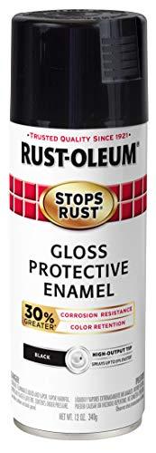 Rust-Oleum 338927-6PK Stops Rust Advanced Spray Paint, 12-Ounce, Gloss Black, 6 Pack (Paint 12 Ounce Gloss)