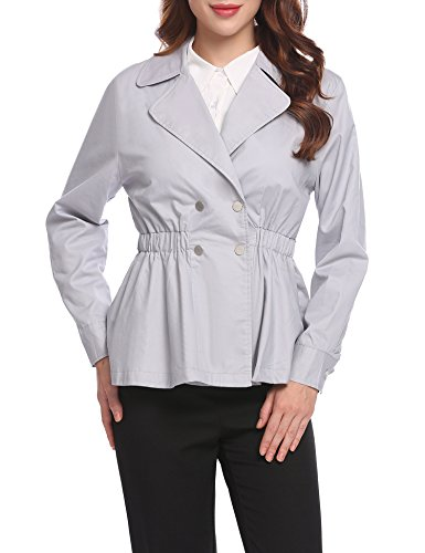 Classic Black Jacket Women - Short Trench Jacket