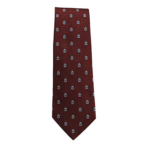 Gucci Silk Tie for Men Woven Cormorant Bordeaux Dark Red 375998 ()