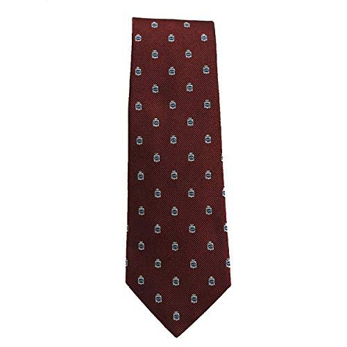 Gucci Silk Tie for Men Woven Cormorant Bordeaux Dark Red 375998 ()