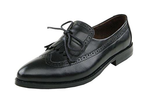 TDA - Zapatos Planos con Cordones mujer negro