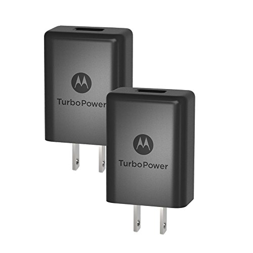 [2 Pack] Motorola TurboPower 15+ QC3.0 Chargers for Moto G5 Plus, G5S, G5S Plus, G6, G7, X4, Z2 Force, Z2 Play, Z3, Z3 Play [No Cable] (Retail Box)