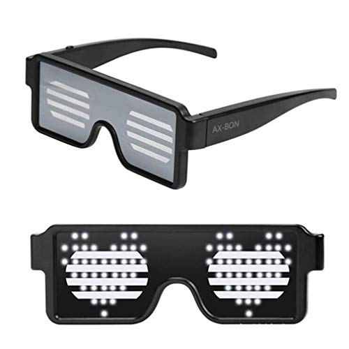 dd3d3b1e68 LED Glasses with 8 Animation Modes, Rechargeable Toy Sunglasses can Work 8  Hours