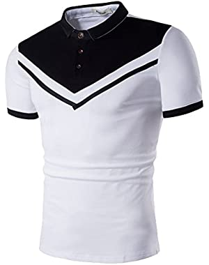 Men's Polo Casual Slim Fit Short Sleeve Polo Shirts
