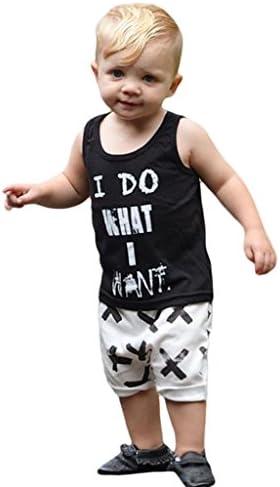COMVIP ファッション キッズ 子供 上下セット タンクトップ ズボン カジュアル 柔らかい 男の子 セットアップ