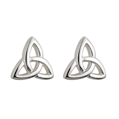 Trinity Knot Earrings Celtic Children's Sterling Silver Women's Small Studs Irish Made