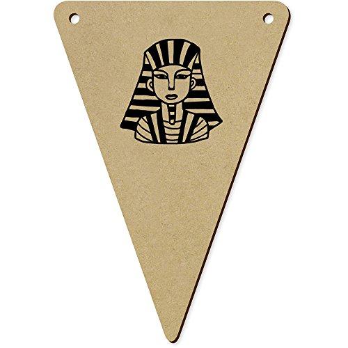 Azeeda 5 x 140mm 'Egyptian Pharaoh' Wooden Bunting Flags