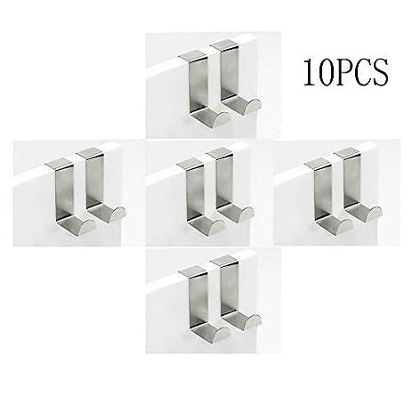 Amazon.com: Hooks NYKKOLA Set of 10 Over Door Hooks Stainless ...