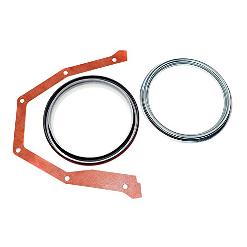 Rear Main Crankshaft Oil Seal with Steel Installer for 89-Up Dodge Cummins B Series 3925529 5.9 12V 24V by Hex Autoparts