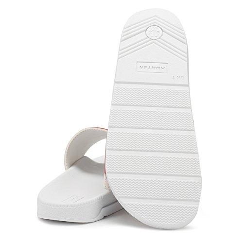 Jæger Oprindelige Logo Justerbare Slide Kvinder - Hvid Badning Hjemmesko (hvid) bN0meiEu