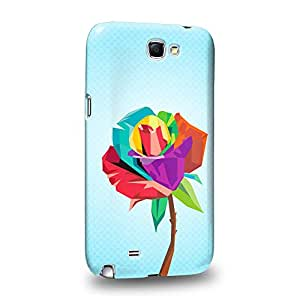 Case88 Premium Designs Art Gel Cubist Bloom Design Carcasa/Funda dura para el Samsung Galaxy Note 2