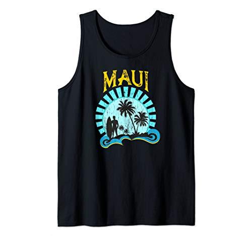Cute Maui Vintage Style Hawaiian Beach Tank Top