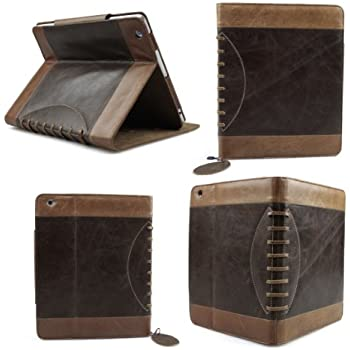 Bear Motion Luxury Buffalo Hide Vintage Leather Case for iPad 2/3/4, Vintage brown (BMIPAD3VGBN)