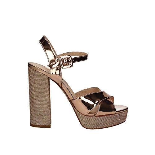 CAF NOIR LG918 sandalias de tacón multiantracite correa de bandejas de plata Pink
