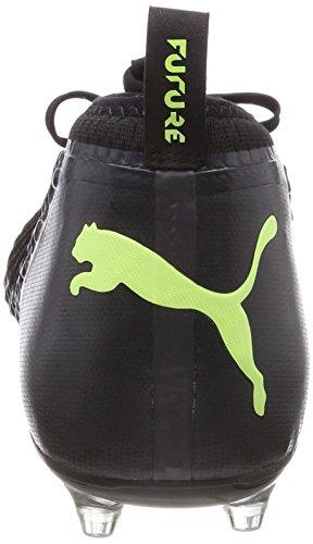 Puma Herren Future 18.2 Netfit FG/AG Fußballschuhe Schwarz (Puma Black-Fizzy Yellow-Asphalt)