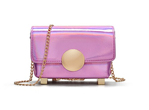 Marchome Laser Leather Crossbody Small Shoulder for Pink Bag Pu Women Purse aa1BU