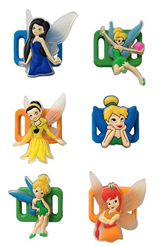 Tinker Bell Shoelace Decoration Clips 6 Pcs Set #1 (Tinker Bell Shoes)