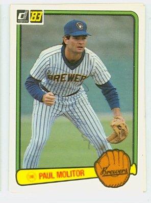 Autograph Paul Molitor (Paul Molitor AUTOGRAPH 1983 Donruss #484 Milwaukee Brewers)