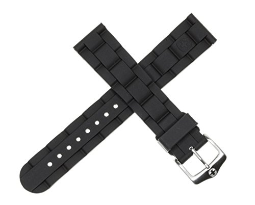 New 19mm Wenger Swiss Army Genuine Rubber Strap Black Diver Watch Band 19 mm