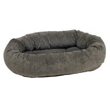 Bowsers Donut Dog Bed, Microvelvet Pewter Bones, Large 42