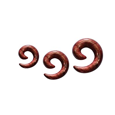 PIERCINGLINE® SET de tres dilataciones espiral MADERA 8 bis 12 mm: Amazon.es: Joyería
