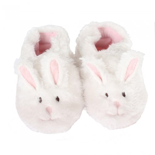 Robeez Fuzzy Bunny Slipper Crib Shoe (Infant), Pink, 12-18 Months M US Infant by Robeez
