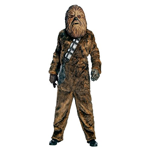 Rubie's Men's Star Wars Deluxe Chewbacca Costume, Size Standard - Star Wars Deluxe Han Solo Adult Costumes