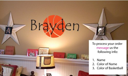 Newsee Decals Personalized Name - Childrens Wall Art - Boys Name Wall Decal -...