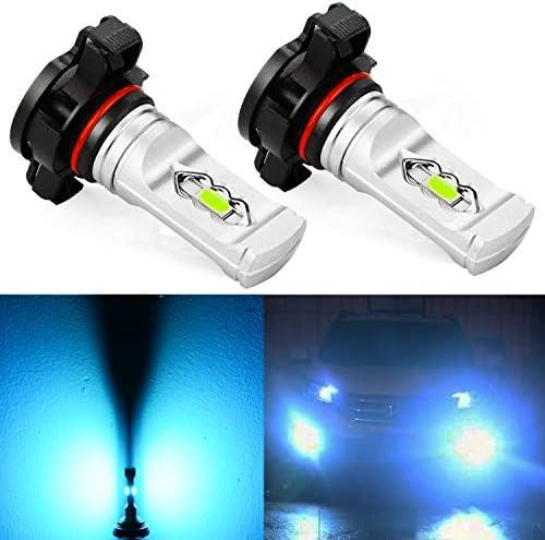 JDM ASTAR 非常に明るい 3600ルーメン ハイパワー 2504 PSX24W LED フォグライト電球 アイスブルー