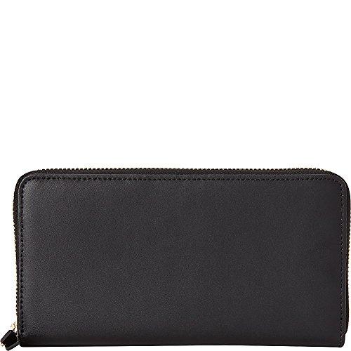 (Samsonite Zip Around Leather Wallet (Black))