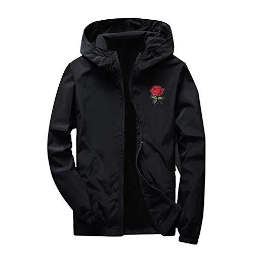 Mens Jacket Godathe Women Men Autumn Printing Long Sleeve Sunscreen Hooded Sweatshirt Pullover Tops S-XXXL