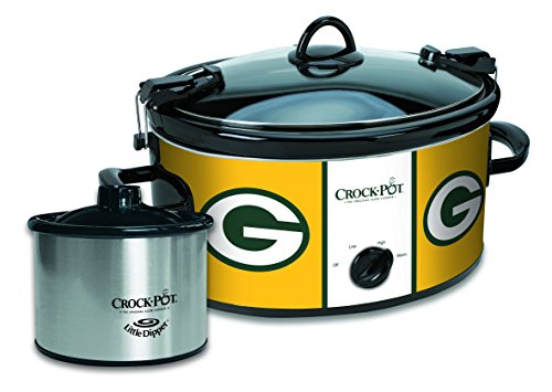 Crock-Pot Green Bay Packers NFL Cook & Carry Slow Cooker with Bonus 16-ounce Little Dipper Food Warmer