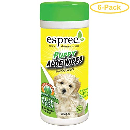 Espree Puppy Aloe Wipes 50 Count - Pack of 6