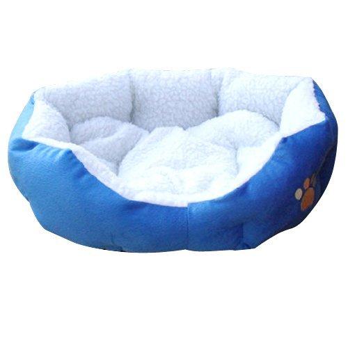TOOGOO Blue Warm Indoor Soft Fleece Puppy Pets Dog Cat Bed H