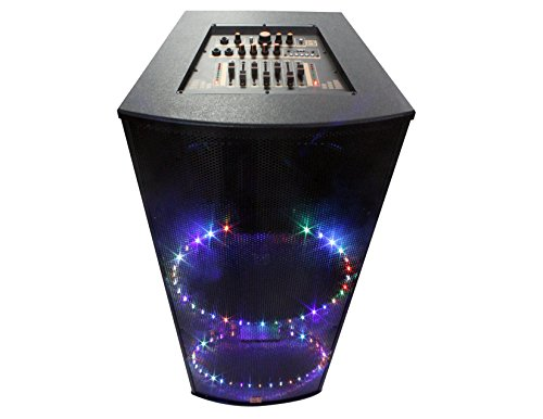 Mr. Dj MASTER4200BT Dual 15'' 3-Way Portable Speaker with Built-In LED Light, Bluetooth, USB & FM Radio by Mr. Dj
