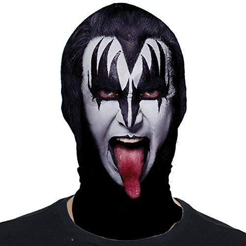 Kiss The Demon Mask - Polyester - Spandex - Freaky Horror Halloween Costume