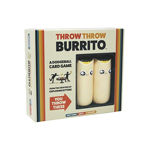 Throw Throw Burrito by Exploding Kittens - A Dodgeball Card Game - Family-Friendly Party Games - Card Games for Adults… 1