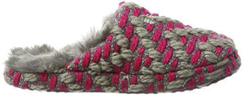 ESPRIT Women's Knitty Mule Open Back Slippers Pink (Dark Pink) QtxciUY