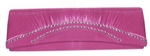 Damen Handtasche Abendtasche,Clutch Partytasche Pink