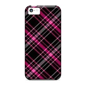New Arrival Iphone 5c Case Black Pink Plaids Case Cover