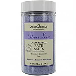 Aromafloria Aromatherapy Collection Stress Less Ocean Mineral Salts, Lavender/Chamomile/Sage, 42.0 Ounce