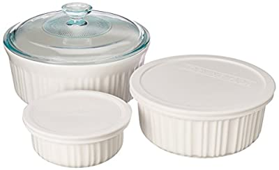 Corningware French White 6-Piece Bakeware Set