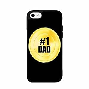 #1 Dad Gold Token TPU RUBBER SILICONE Phone Case Back Cover iPhone 4s 4s