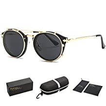 Dollger Vintage Steampunk Sunglasses Clip on Mirrored Lens