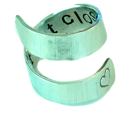 Far Apart But Close At Heart- Secret Message Ring- Deployment Jewelry- Long Distance Relationship (Ring Message Heart)
