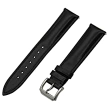 TRUMiRR 18mm Quick Release Watch Band 1st Layer Calf Genuine Leather Strap for Huawei Watch, Huawei Fit Honor S1, Withings Activite / Steel / Pop, Asus ZenWatch 2 Women 45mm WI502Q Black